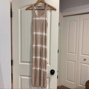 Tie dye midi pink dress